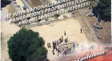 1st International Training Courses Ancient Olympia 10-13/11/2013